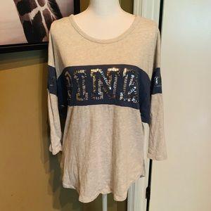 VS Pink size large long sleeve bling t-shirt!